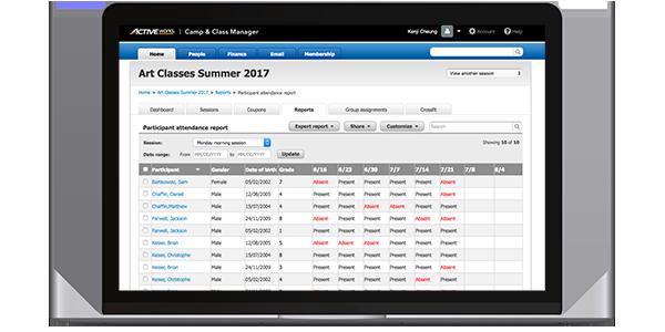 class attendance tracking software